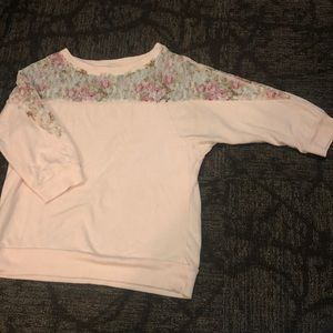 Baby Pink Lace Sweater